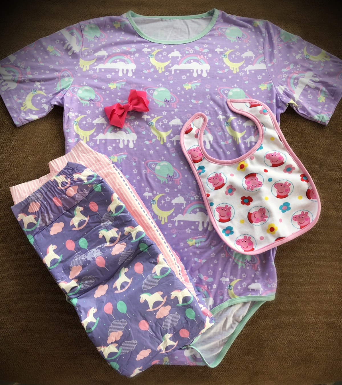 ABDL onsie, adult, baby, diaper, lover, infantilism, adult diaper, adult onsie, role play, chicago dominatrix