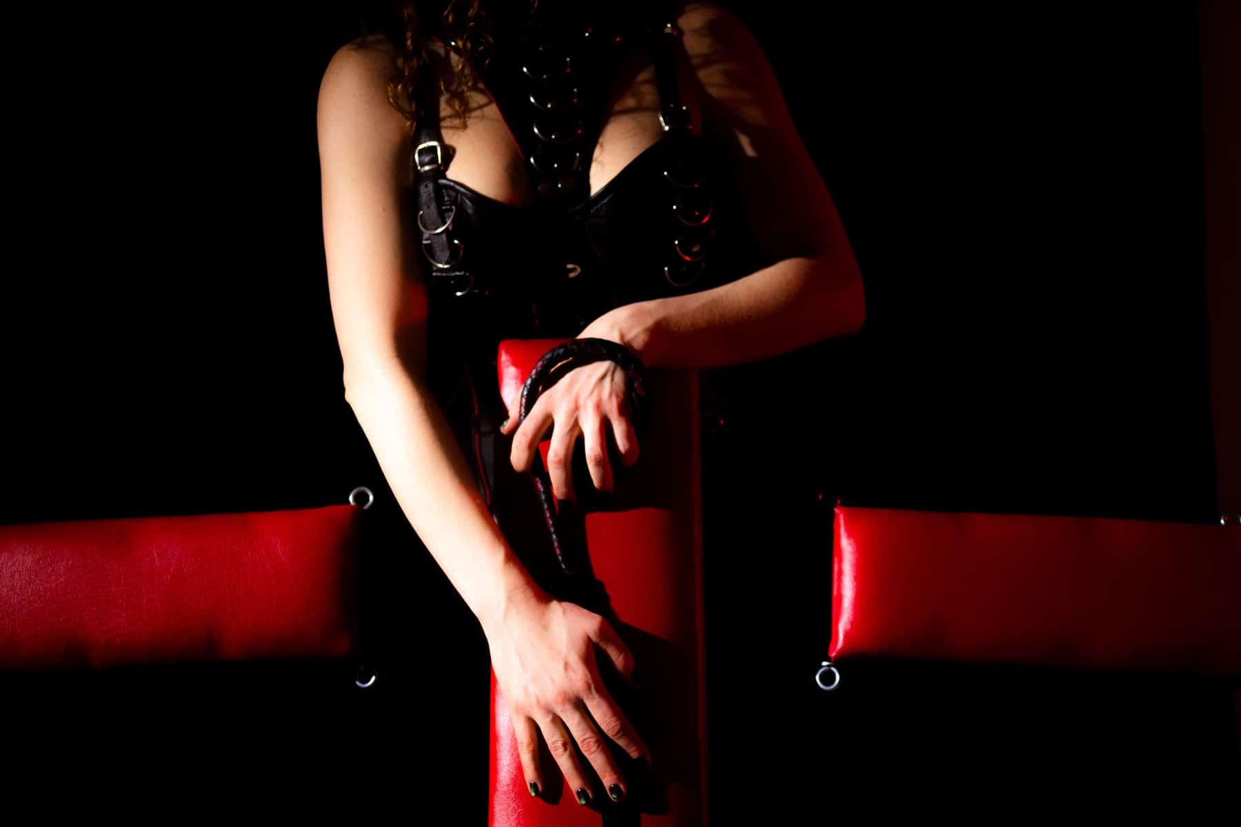 chicago dominatrix CBT chair torture cock ball torture leather corset dominatrix leather whip single tail bdsm furniture dungeon den